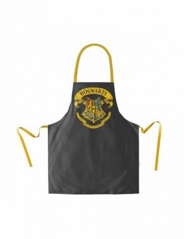 Delantal Negro Escudo Hogwarts Harry Potter Packaging Carton