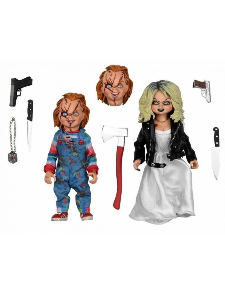 Figura Bride Of Chucky Chucky & Tiffany Set 2 20 cm