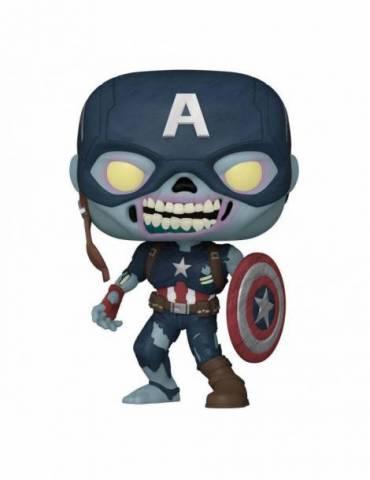 Marvel What If...? Pop! Tv Vinyl Figura Zombie Captain America 9 Cm