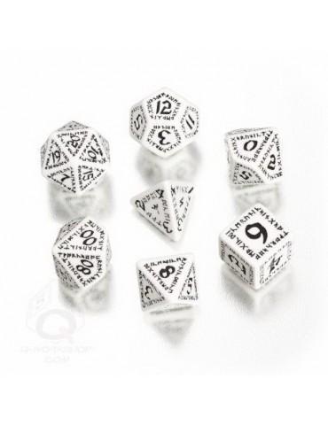 Set de dados Runic blanco /...