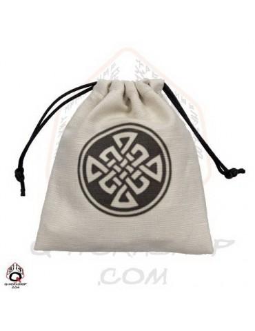 Bolsa para dados Celtic blanco