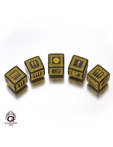 Set de dados Ork D6 negro /...