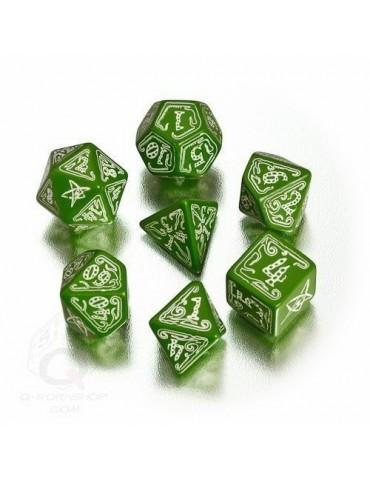 Set de dados Cthulhu verde...