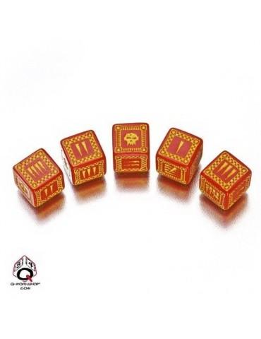 Set de dados Ork D6 rojo /...