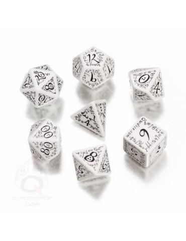 Set de dados Elven blanco /...
