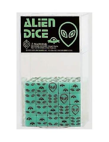 Dados Alien con brillo en...