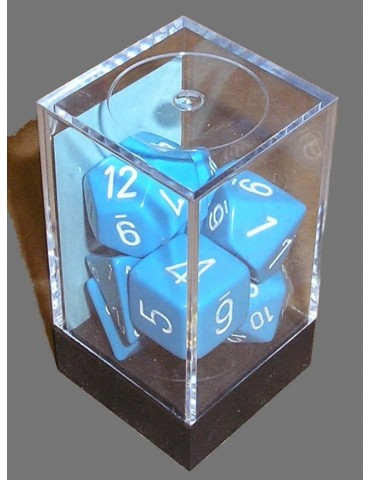Set de dados Chessex azul...
