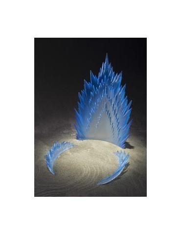 Efecto aura de energía azul...