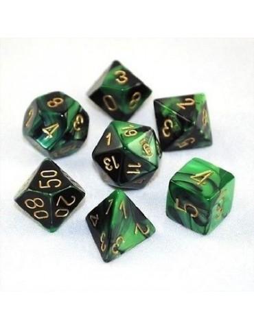 Set de dados Chessex Negro,...