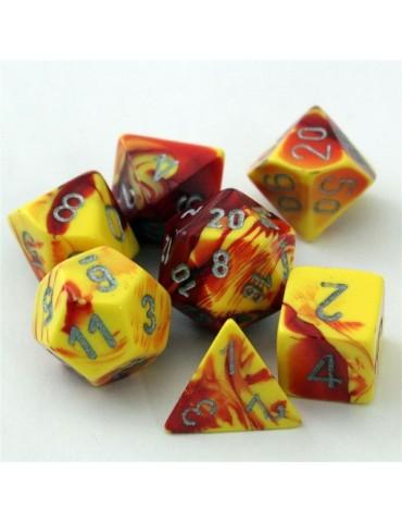 Set de dados Chessex Rojo,...