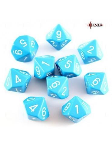 Dados Chessex 10 caras Azul...