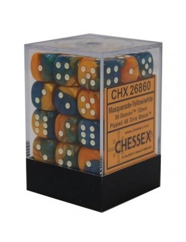 Caja de 36 dados Chessex de...