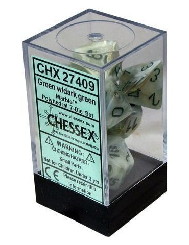 Set de dados Chessex Mármol...