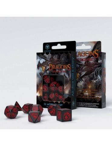 Set de dados Dragons Negro...