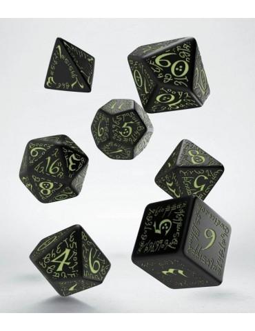 Set de dados Elven negro y...