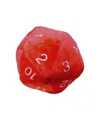 Peluche Dado Jumbo D20 Rojo