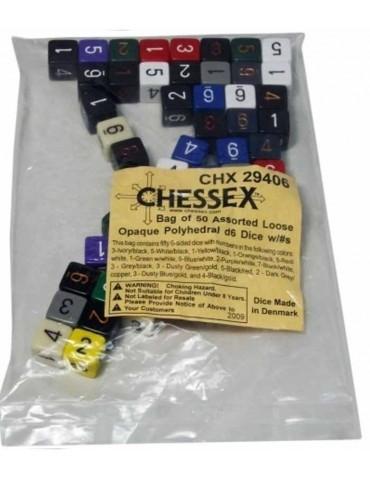 Bolsa de 50 dados Chessex 6...