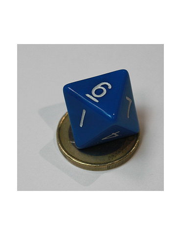 Dado de 8 caras azul