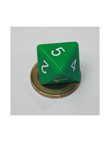 Dado de 8 caras verde