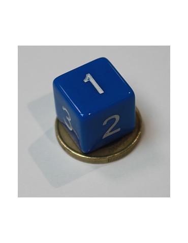 Dado de 6 caras azul