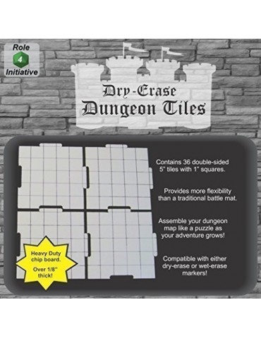 "Dry Erase Dungeon Tiles 5""..."