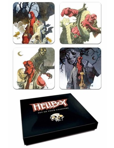 Set 4 Posavasos Hellboy:...