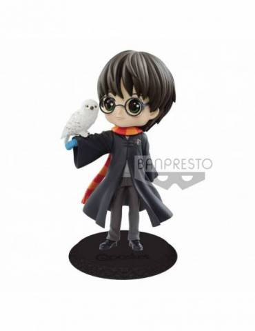 Figura Harry Potter Q Posket: Harry Potter con Hedwig Color Claro 14 cm