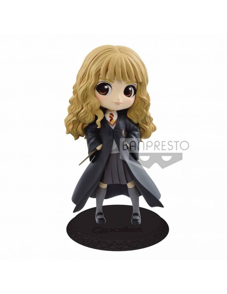 Figura Harry Potter Q Posket: Hermione Granger con Varita Color Claro 14 cm