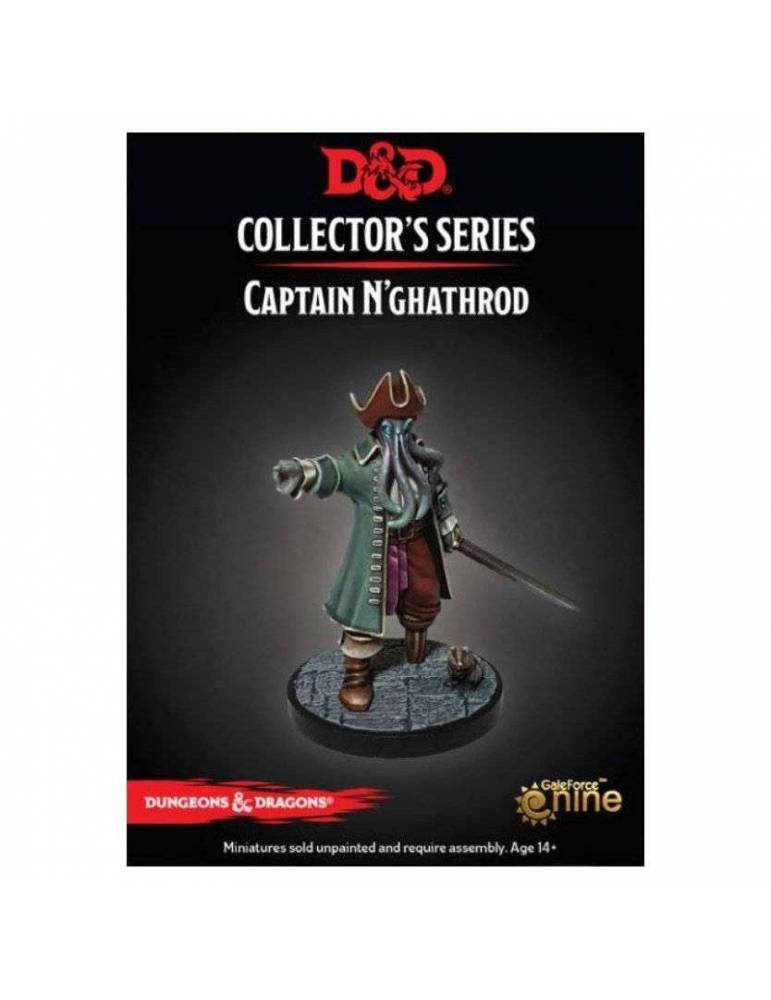 Dungeons & Dragons: Collectors Series Miniatures - Miniatura sin pintar Captain N'ghathrod