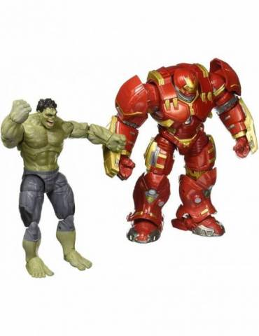 Pack de 2 Figuras Marvel 10Th Anniversary: Hulk & Hulkbuster 15 y 23 cm