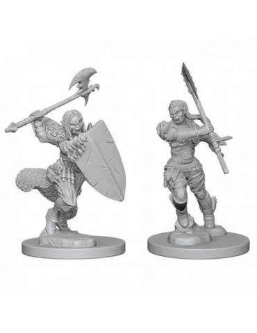 Pathfinder Deep Cuts Unpainted Miniatures: Half-Orc Female Barbarian