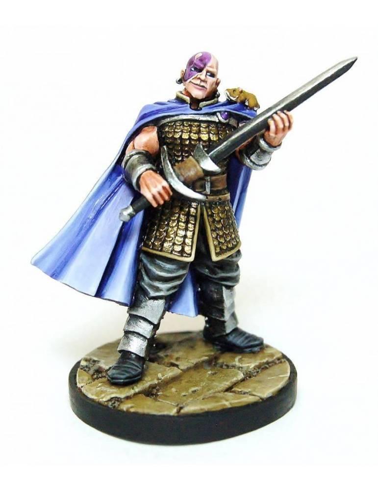 Figura D&D Collectors Series Miniatures: Miniatura sin pintar Classic Minsc & Boo