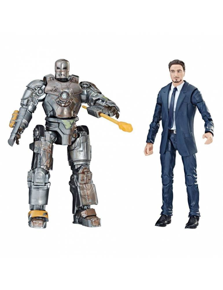 Pack de 2 Figuras Iron Man Marvel Legends Series : Tony Stark & Iron Man Mark I 15 cm