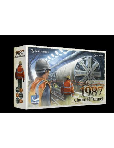 1987 Channel Tunnel + Postal firmada