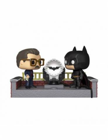 Figura POP Batman's 80th Movie Moment: Batman with Light Up Bat Signal 9 cm