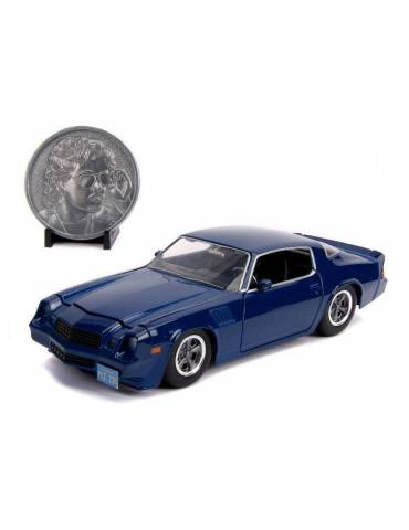Réplica Vehículo Stranger Things 1/24: Billy's 1979 Chevy Camaro Z28 con Moneda