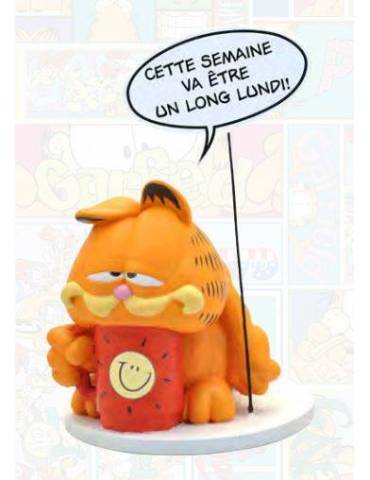 Figura Resina Garfield: Bocadillo Largo Lunes Comic Speech Collection 25 cm