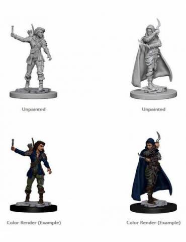 Pathfinder Deep Cuts Unpainted Miniature: Human Female Rogue (2 miniaturas)