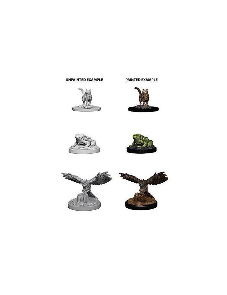 WizKids Deep Cuts Unpainted Miniatures: Familiars (3 miniaturas)