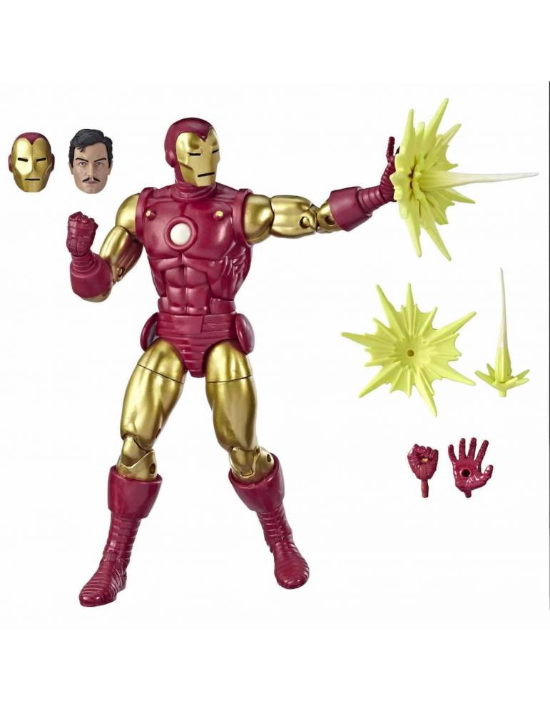 Figura Marvel Legends 80Th Anniversary  Iron Man Versión Alex Ross 15 cm