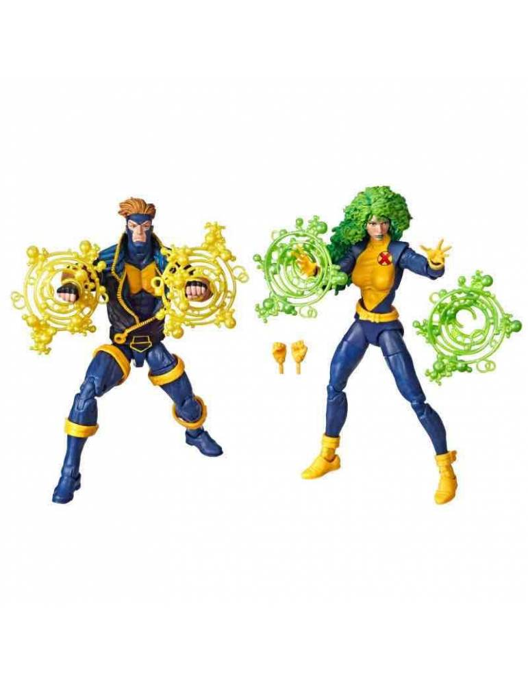 Set de Figuras Marvel Legends 80th Anniversary: Havok + Polaris 15 cm