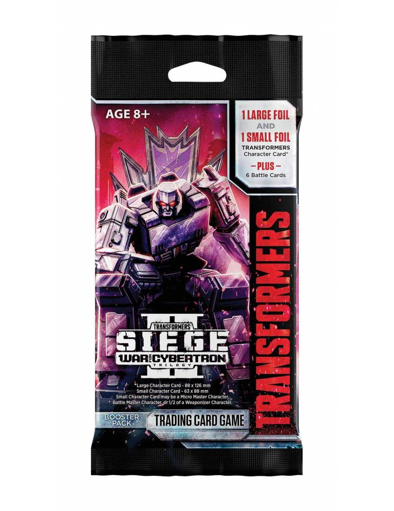 Transformers TCG War for Cybertron Siege II Sobre de 8 cartas