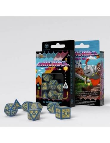 Set de dados Arcade Azul y Amarillo