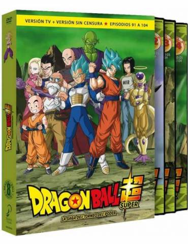 Dragon Ball Super Box 8: La Saga del Torneo del Poder (DVD)
