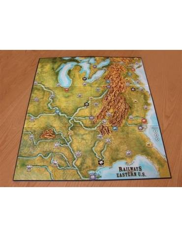 Railways of the World: Railways of Eastern U.S Map & Cards