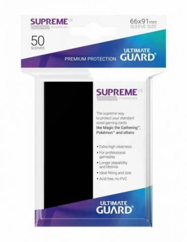 Fundas Ultimate Guard Supreme UX Tamaño Estándar Negro (50)