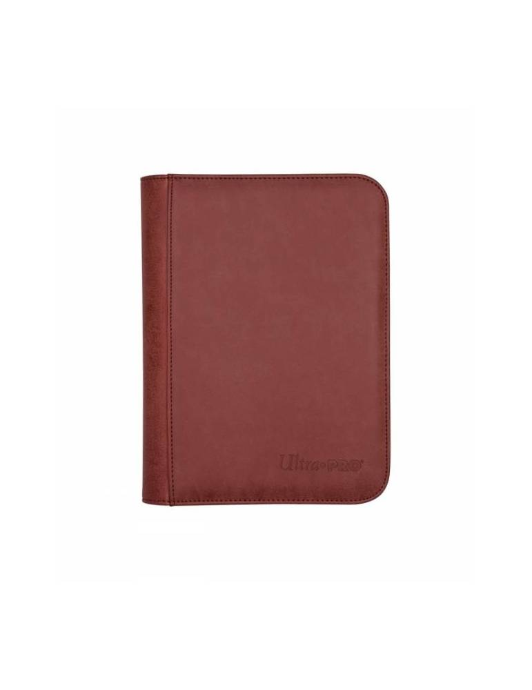 Premium Pro-Binder Ultra Pro Suede Collection Zippered 4 Bolsillos: Ruby