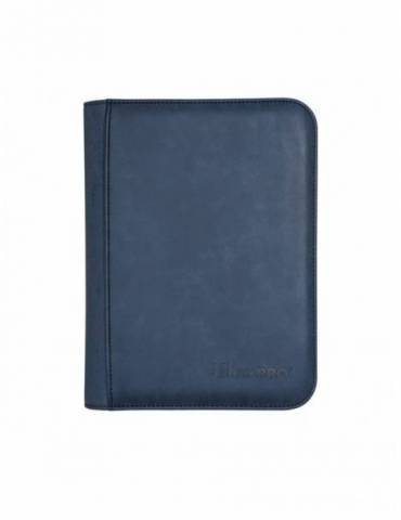 Premium Pro-Binder Ultra Pro Suede Collection Zippered 4 Bolsillos: Sapphire