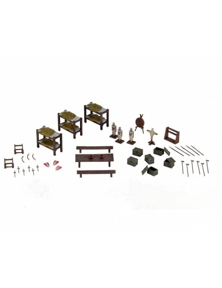 WizKids 4D Settings Miniaturas sin pintar Castle Barracks