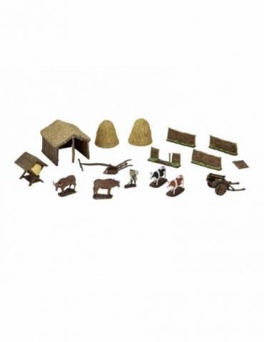 WizKids 4D Settings Miniaturas sin pintar Medieval Farmer